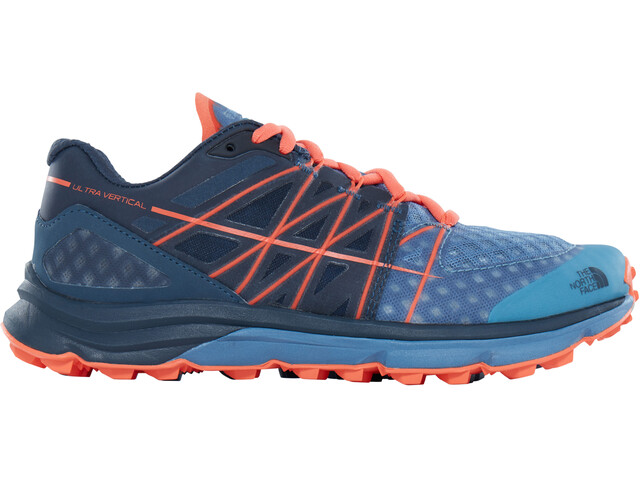 The North Face Ultra Vertical Running Trail Shoes Ladies Provincial Blue/Nasturtium Orange
